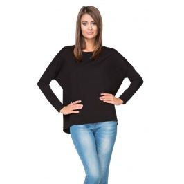 Czarna Bluza z Dłuższym Tyłem