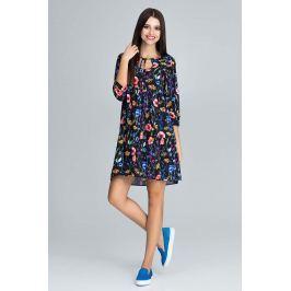Urocza Sukienka w Barwny Deseń z Falbankami - Wzór 77 Sukienki i suknie