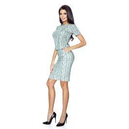 Ołówkowa Spódnica z wzorem - Gruby Warkocz Spódnice i spódniczki
