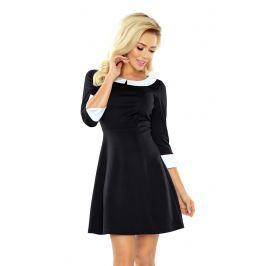 Czarna Sukienka z Białym Kołnierzykiem Bebe Sukienki i suknie