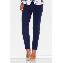 Niebieske Kobiece Klasyczne Spodnie na Gumie Spodnie eleganckie damskie