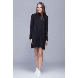 Czarna Codzienna Sukienka z Golfem Sukienki i suknie