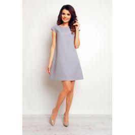 Szara Trapezowa Elegancka Sukienka Sukienki i suknie