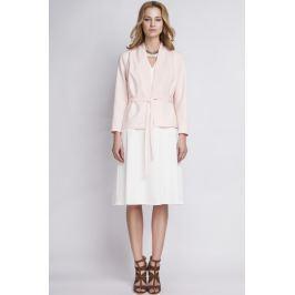 Elegancki Różowy Żakiet bez Zapięcia Przewiązany Paskiem Pozostała odzież damska