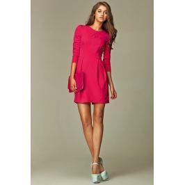 Praktyczna Sukienka Bombka Różowa Sukienki i suknie