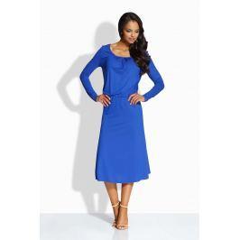 Chabrowa Sukienka z Zakładkami przy Dekolcie Sukienki i suknie
