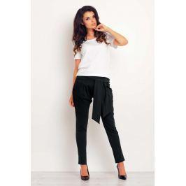 Wygodne Czarne Spodnie Joggersy z Wiązanym Paskiem Spodnie eleganckie damskie