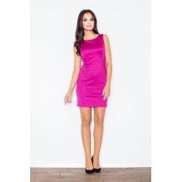 Modna Ołówkowa Sukienka Bez Rękawów w Kolorze Fuksji Sukienki i suknie