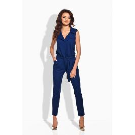 Kobaltowy Elegancki Kombinezon Spodnie eleganckie damskie