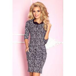Tetris Czarna Sukienka Ołówkowa z Golfem Wiązana w Pasie Sukienki i suknie