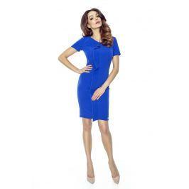 Chabrowa Sukienka Elegancka Mini z Plisą