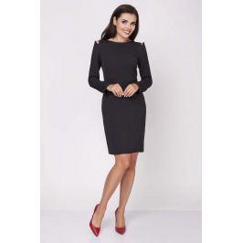 Czarna Dopasowana Sukienka z Rękawem Typu Cold Shoulder
