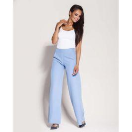 Niebieskie Spodnie z Szerokimi Nogawkami