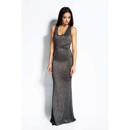 Srebrna Sukienka Syrena z Odkrytymi Plecami