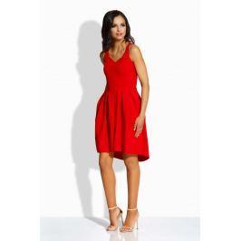 Czerwona Kobieca Sukienka na Szerokich Ramiączkach
