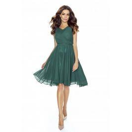 Zielona Sukienka Koktajlowa z Szyfonu