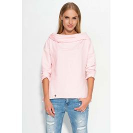 Różowa Bluza z Szerokim Kapturem