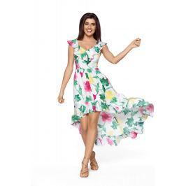 Elegancka Maxi Kolorowa Sukienka w Typu Hiszpanka