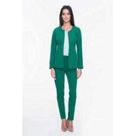 Zielony Żakiet Elegancki Minimalistyczny bez Zapięcia