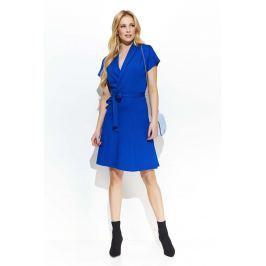 Chabrowa Elegancka Ołówkowa Sukienka z Krawatką