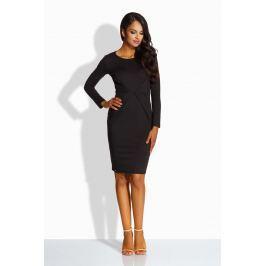 Czarna Sukienka Ołówkowa z Dekoracyjnym Drapowaniem