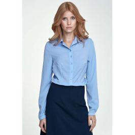 Błękitna Klasyczna Bluzka Koszulowa