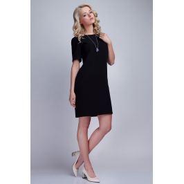 Czarna Sukienka w Minimalistycznym Stylu z Dekoltem na Plecach