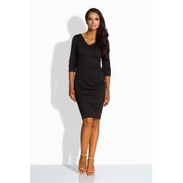Czarna Sukienka Dopasowana z Dekoltem V