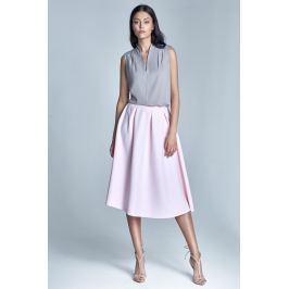 Różowa Delikatnie Plisowana Spódnica Midi