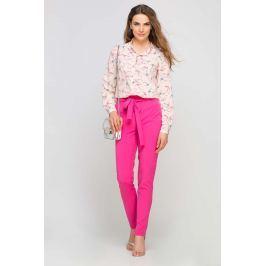 Różowa Koszula w Jaskółki z Wydłużonym Tyłem