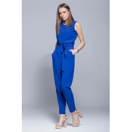 Niebieski Elegancki Kombinezon bez Rękawów