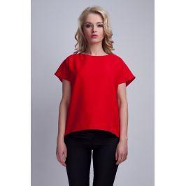 Czerwona Ciekawa Bluzka z Kopertowym Założeniem na Plecach