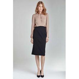 Czarna Ołówkowa Elegancka Spódnica