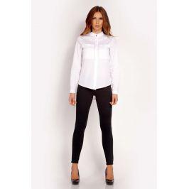 Biała Koszula z Niską Stójką