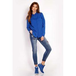 Niebieska Koszula z Krytym Zapięciem