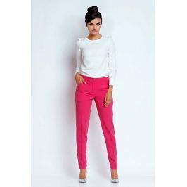 Różowe Eleganckie Spodnie Cygaretki
