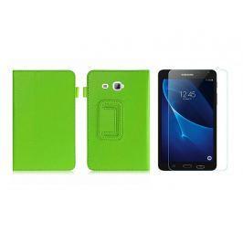 Etui STAND COVE Galaxy Tab A 7.0 T280 Zielone + Szkło - Zielony