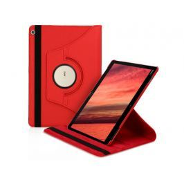 Etui obrotowe 360 Huawei MediaPad M3 Lite 10 Czerwone + Szkło - Czerwony