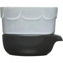 Doniczka na zioła ceramiczna z podstawką SAGAFORM HERBS AND SPICES NIEBIESKA 13,5 cm