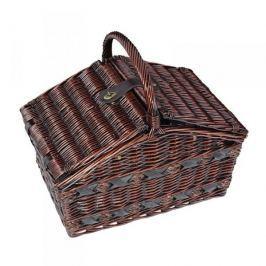 Koszyk piknikowy wiklinowy CILIO COMO BRĄZOWY 47 x 31 cm