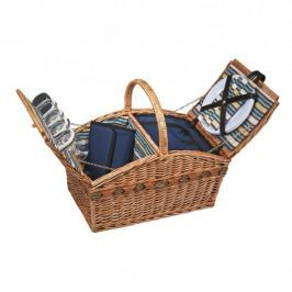 Koszyk piknikowy wiklinowy CILIO AIR BRĄZOWY 51 x 33 cm