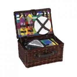 Koszyk piknikowy wiklinowy CILIO BELLANO BRĄZOWY 40 x 28 cm
