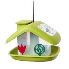 Plastia Karmnik dla ptaków Domek, zielony