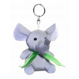 Brelok odblaskowy 3D Słoń, srebrny