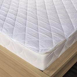 Kvalitex Ochraniacz na materac pikowany z włókna kanalikowego, biały, 180 x 200 cm, 180 x 200 cm