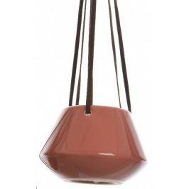 Doniczka ceramiczna wisząca czerwony, śr. 12 cm