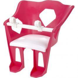 Fotelik na rower dziecięcy dla lalek, różowy