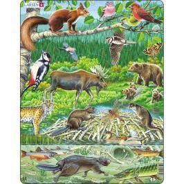 Larsen Puzzle Północny las, 45 części
