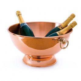 MAUVIEL Miska miedziana do szampana z brązowymi uchwytami Ø 40 cm