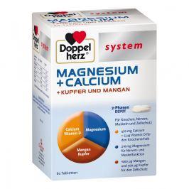 Doppelherz magnez+wapń+miedź+mangan System tabletki